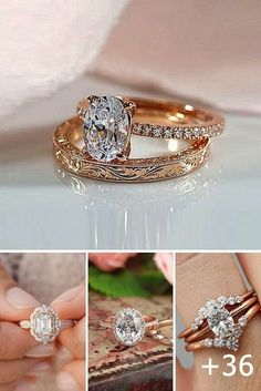 36 Rose Gold Engagement Rings That Melt Your Heart ♥ Rose gold engagement rings are a fantastic choice for people with warm and cooler skin tones. Read our post! You'll like it! #wedding #bride #weddingrings #weddingforward Top Engagement Rings, Antique Engagement Rings, Rose Gold Engagement Ring, Designer Engagement Rings, Engagement Ring Settings, Solitaire Engagement, Wedding Engagement, Wedding Rings Rose Gold, Silver Rings