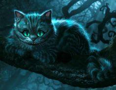 схемы вышивки чеширский кот