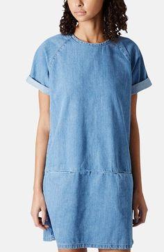 Denim T-Shirt Dress // @Nordstrom