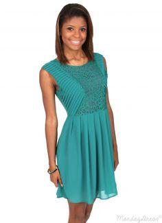 Charmer Green Sleeveless Dress   Monday Dress Boutique