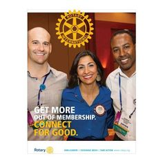 Connect for Good, our new colorful, eight-page guide, shows how to get involved and connect with Rotary. Find this and other helpful items at shop.rotary.org.
