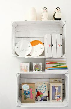 Playroom - love this painted crate idea