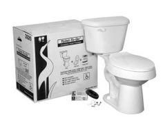 Crane Plumbing® Toilet To Go® Tall Elongated Toilet (3926N100) Compare Product Description  The Crane Plumbing Toilet To Go Tall Elongated Toilet is a 12″ rough in and 17 inch high toilet. This toilet is ADA compliant with elongated front toilet bowl and tank combination. The easy flush technology makes this economical combined with the 1.6 gallons per flush. Please note that the package does not include the supply line.