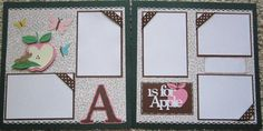 Cricut Kates ABC's Premade Scrapbooking Pages 2 by mesa219815, $9.99