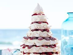 Julie Goodwin& meringue christmas tree recipe - By Australian Women& Weekly, Get creative this festive season with Julie Goodwin& marvelous meringue Christmas tree! Tastes as good as it looks! The perfect dessert for Christmas Day.