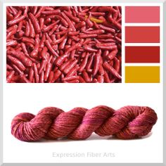 """RED HOT CHILI PEPPERS - Limited Edition """"Chameleon Color Shift"""" Superwash Merino Wool DK Yarn 3.5 oz/ 218 yd - Expression Fiber Arts"""