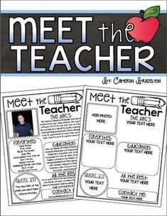 1000 ideas about teacher newsletter templates on for Free meet the teacher template