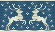 Cute knitting background with two reindeers and snowflakes - stock vector Fair Isle Knitting Patterns, Knitting Charts, Knitting Stitches, Knitting Designs, Knitting Projects, Sewing Patterns, Crochet Patterns, Christmas Fair Ideas, Fair Isle Chart