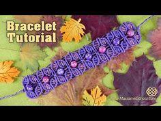 Fall Season Flower Bracelet - Tutorial by Macrame School. Link download: http://www.getlinkyoutube.com/watch?v=COWGiYVZhmQ