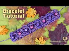 Fall Season Flower Bracelet - Tutorial by Macrame School. Link download: http://www.getlinkyoutube.com/watch?v=COWGiYVZhmQ