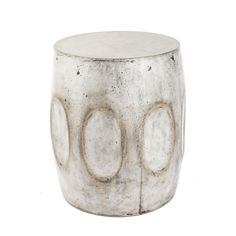Eco-Concrete Drum Seat/Table 16x16x18  $154   could be used outdoors.