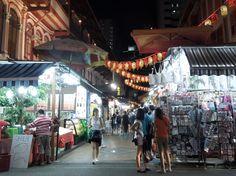 Evening in Chinatown.
