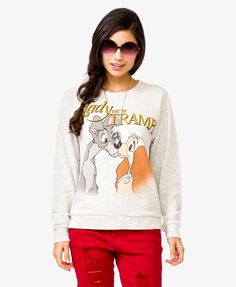 my heart just fluttered a little when i saw this! i love lady and the tramp! so cute! Lady & The Tramp™ Pullover | FOREVER21 - 2027704254