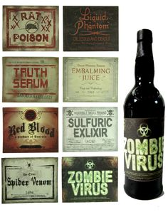halloween drink labels