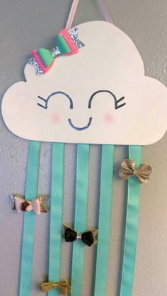 Excited to share the latest addition to my #etsy shop: Cloud Bow Holder http://etsy.me/2Bb1fH8