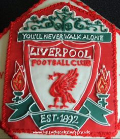 Liverpool groom's cake....as much as I hate it...Sean would love it