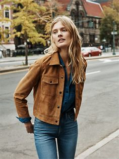 urbnite:  Madewell Wayfind Jacket  Madewell Flea Market Flare. love this look. so madewell.