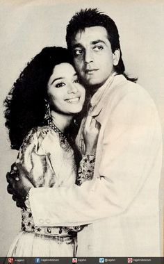 #MadhuriDixit and #SanjayDutt #Bollywood #Couple