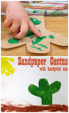COWboys girls Camp sandpaper cactus Princesses, Pies, & Preschool Pizzazz: Western Roundup for Toddlers Cowboy Theme, Western Theme, Cowboy And Cowgirl, Western Wild, Cowgirl Style, Western Style, Toddler Art, Toddler Crafts, Crafts For Kids
