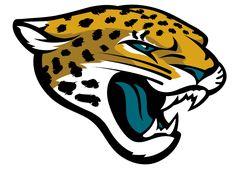 Jacksonville Jaguars Primary Logo (2013) - Golden jaguar head with black spots, a teal tongue, and teal eyeball