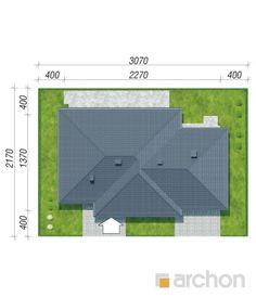 gotowy projekt Dom w alwach 4 sytuacja Houses, Flats, Homes, House, Computer Case, Home
