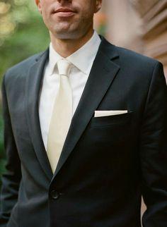 White with off white tie