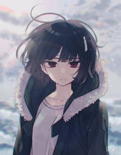 Sachiiro no one room Cool Anime Girl, Pretty Anime Girl, Kawaii Anime Girl, Anime Art Girl, Manga Art, Anime Girls, Anime Oc, Manga Anime, Anime Black Hair