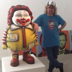 """Ron English, """"Supersize Me""""- based on the idea that Ronald McDonald ate his own product"""
