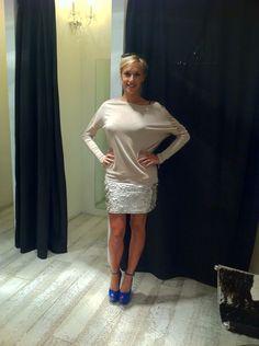 Gaia Barlocco wears Mangano
