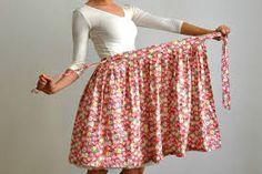 Výsledek obrázku pro strih zavinovaci sukne