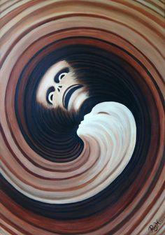'Earth' ('The Four Elements') (One can hang it horizontal too) Oil on canvas, 1999 70 x 100 cm 1cm (Zentimeter) = 0,394 inch Artist: Raimund J. Höltich