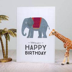 Elephant Birthday Card by Laura Danby, the perfect gift for Explore more unique gifts in our curated marketplace. Elephant Birthday, Circus Birthday, Birthday Cards, Happy Birthday, Elephant Balloon, Circus Poster, Colorful Birthday, Elephant Design