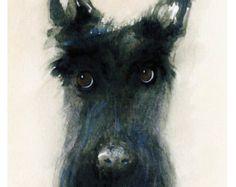 Scottie Dog Art Print Scottish Terrier 93 by ArchyScottie on Etsy