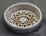 This Chainmaille Basket is spectacular!