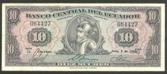 Ecuador, Banknote, 10 Sucres 1958, P 101A a, Scarce, VF+ !