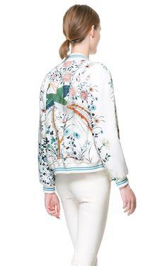 Loose Printed Jacket - Zara