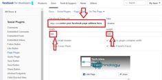 Add Fan page in blogger
