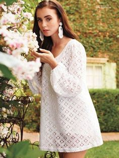 Beautiful Lily Collins - Sharenator - It's Human Nature To Share Lily Collins Style, Lily Collins Dress, Lily Collins Fashion, Pictures Of Lily, Glamour, Mamma Mia, Looks Style, Fashion Dresses, White Dress
