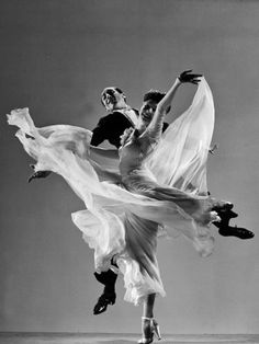 Tony and Sally Demarco, Ballroom Dance Team Performing, by Gjon Mili