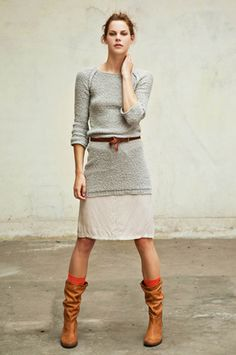 everything - sweater skirt boots - everything
