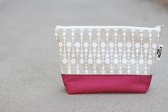WHITE DOTS / HOT PINK BOTTOM ZIPPED POUCH | Sew Beastly | Online Store Powered by Storenvy #handmade