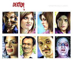 Dexter Season 3 Sketch Cards by Trev Murphy