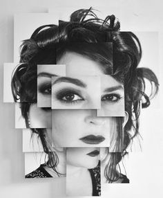 Creative photo idea black and white – Schwarz Weiß Porträt Fotografie – collage Photography Collage, Photography Projects, Abstract Photography, Creative Photography, Portrait Photography, Photography Backgrounds, Winter Photography, Aerial Photography, David Hockney Photography