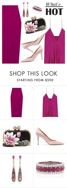 """""""What's Hot"""" by dressedbyrose ❤ liked on Polyvore featuring Roland Mouret, Haider Ackermann, Alexander McQueen, Gianvito Rossi, Anabela Chan, Bayco, ootd and polyvoreeditorial"""