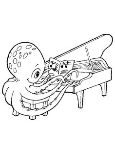 Lots Of Musical Instruments Coloring Pages