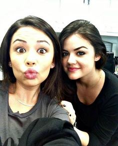 Pretty Little Liars actresses Janel Parrish and Lucy Hale #PLL