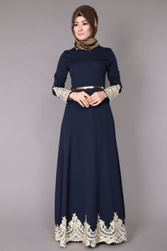 C.M.N - Etek Ucu ve Manşetleri Dantelli Mevlana Abiye MSW8001 Laci Islamic Fashion, Muslim Fashion, Modest Fashion, Fashion Dresses, Hijab Evening Dress, Long Evening Gowns, Hijabi Gowns, Hijab Style Dress, Dress Pesta
