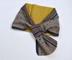 Reversible Scarf http://kimokame.com/shop/kimono-inspired-fashion/reversible-scarf-tsumugi/