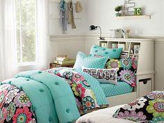 I love the PBteen Camilla Crinkle Puff Stuff-Your-Stuff Bedroom on pbteen.com