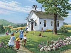 "Sept. 2013 ""Higher Education"", Country Seasons Calendar by John Sloane"